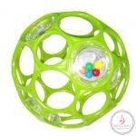 OBALL RATTLE készségfejlesztő játék 10 cm Zöld 2020
