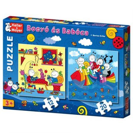Bogyó és Babóca Puzzle  Szivárványhal 12-és 20 db-os
