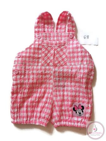 Disney Mickey,Minnie kertésznadrágos napozó, rózsaszín 68-as