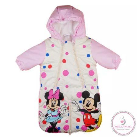 Disney Minnie lányka vízlepergetős, bélelt bundazsák (méret:68-74)