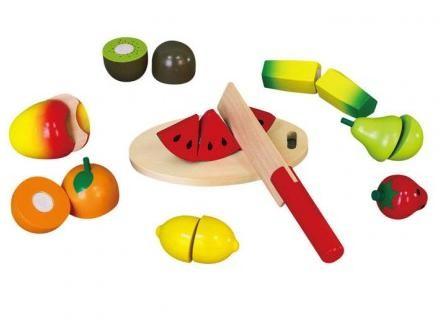 Fa játék szeletelhető gyümölcsök