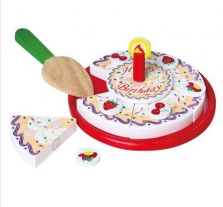 Fa játék torta papírdobozban