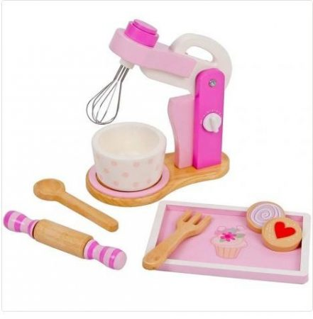 Fa játék mixer tartozékokkal (rózsaszín)