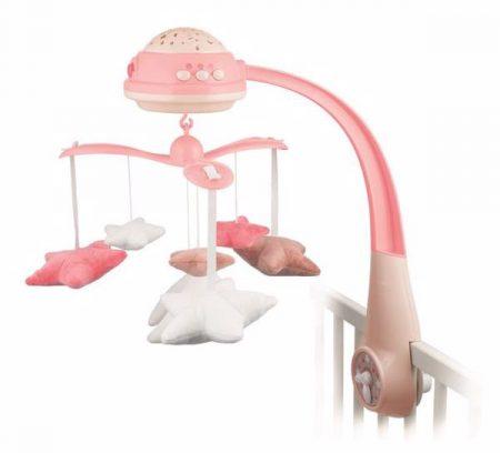 Canpol prémium projektoros zenélő forgó 25 dallammal, rózsaszín