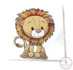 Mintás textil pelenka  - oroszlán