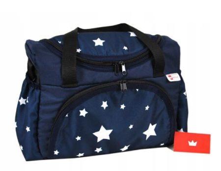 BabyLux mintás pelenka táska- Kék csillagos