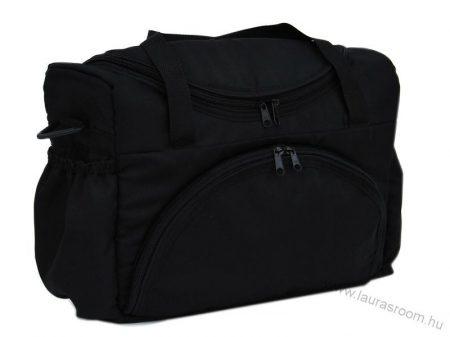 BabyLux egyszínű pelenka táska- Fekete