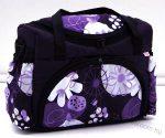 BabyLux mintás pelenka táska - Lila Virágos