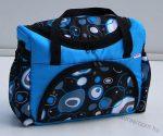 BabyLux mintás pelenka táska - Türkíz buborékos