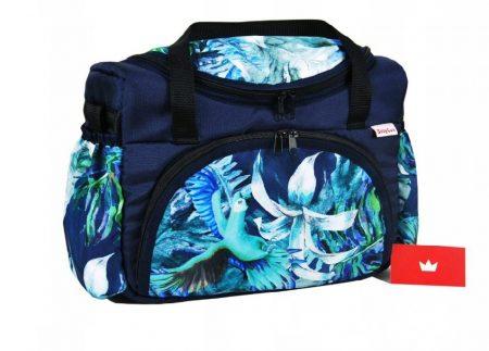 BabyLux mintás pelenka táska- Kék Papagájos