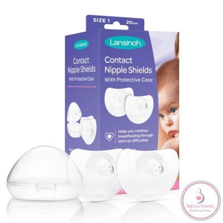 Lansinoh kontakt bimbóvédő 2 db mini méret (20 mm), védőtokkal MOST 6db-os melltartóbetéttel