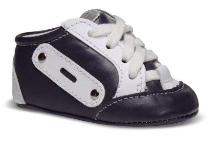 MAUS bőr kocsicipő, sötétkék (Méret:16-18)
