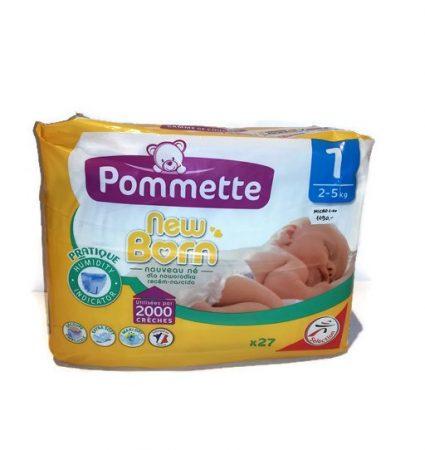 Pommette prémium francia vasalt pelenka - 1 micro (2-5 kg), 27 db