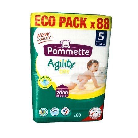 Pommette prémium francia vasalt pelenka - 5 junior (11-25 kg) ECO PACK