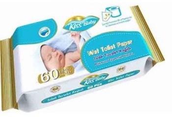 Kiss Baby nedves toalettpapír, 60 db-os, AJÁNLJUK!