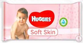 Törlőkendő, Huggies soft skin