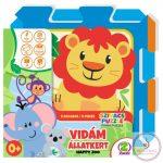 Happy Zoo állatos szivacs puzzle játszószőnyeg